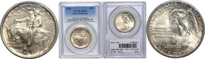 1925. PCGS. MS-65. Stone Mountain.