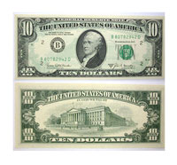 1969-B. $10. CCU. Federal Reserve Note.