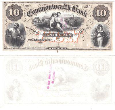 1850's. $10. CAU. PA.