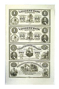1850's. $1,. CU. LA.