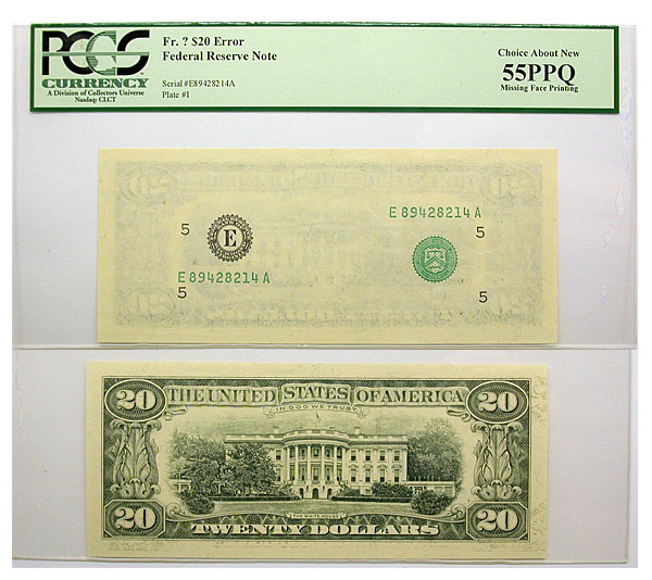 122588- Undated. $20. PCGS. Ch AU-55. PPQ. Federal Reserve Note.