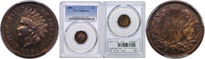 1884. PCGS. PR-64. RB.