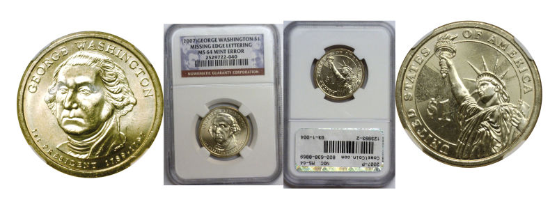 123993- 2007-P. NGC. MS-64. George Washington.
