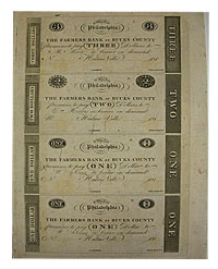 1810's. $3,$2,. CCU. PA.