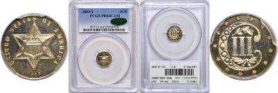 1863/2. PCGS. PR-64. CAM.