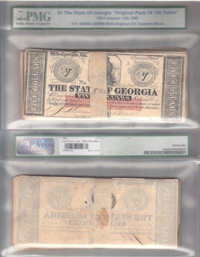 1862. $5. CCU. GA.