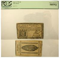 1/9/1781. NJ. Six Pence. PCGS. Ch AU-58. PPQ.