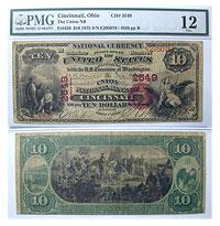 1875. $10. PMG. F-12. OH. Cincinnati. Charter 2549