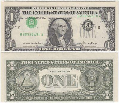 1985. $1. CU. Federal Reserve Note.