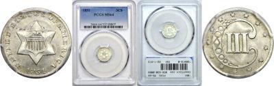 1851. PCGS. MS-64.