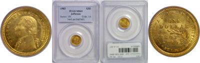 1903. PCGS. MS-64. La. Purchase - Jefferson $1.