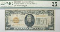 1928*. $20. PMG. VF-25. Gold Certificate.