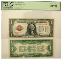 1928. $1. PCGS. Very Ch-64. PPQ. Legal Tender Note
