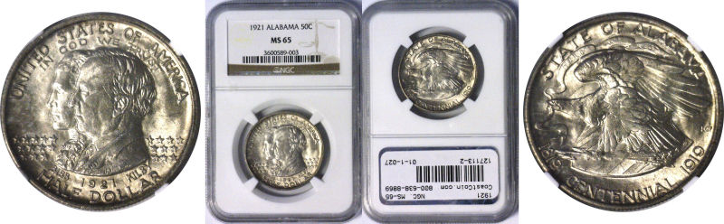 127113- 1921. NGC. MS-65. Alabama.