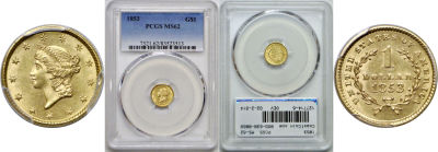 1853. PCGS. MS-62.