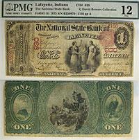 1875. $1. PMG. F-12. IN. Lafayette. Charter 930.