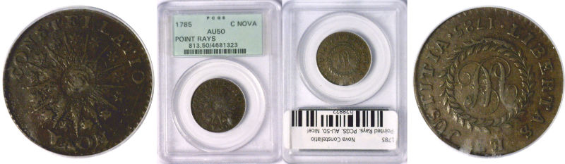 128822- 1785. Nova Constellatio. PCGS. AU-50.