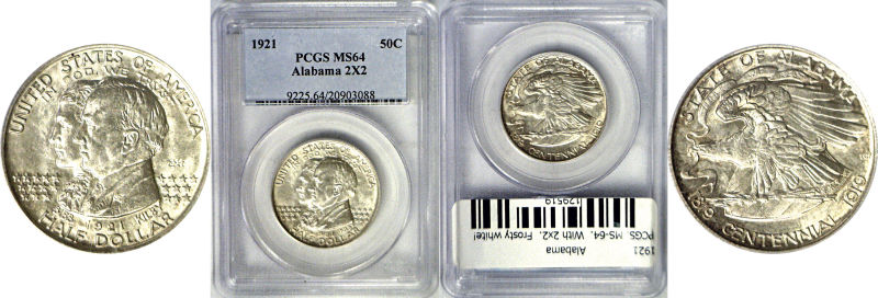 129519- 1921. PCGS. MS-64. Alabama.
