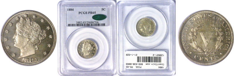 129601- 1884. PCGS. PR-65.