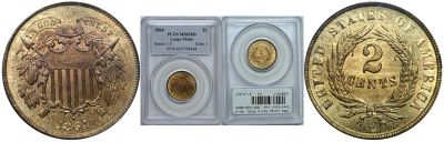 1864 Large Motto. PCGS. MS-65. RD.
