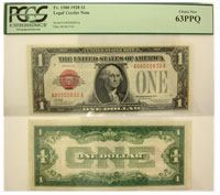 1928. $1. PCGS. Ch New-63. PPQ. Legal Tender Note.