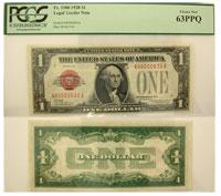 1928. $1. PCGS. Ch New-63. PPQ. Legal Tender Note.