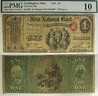 1865. $1. PMG. VG-10. OH. Cardington. Charter 127.