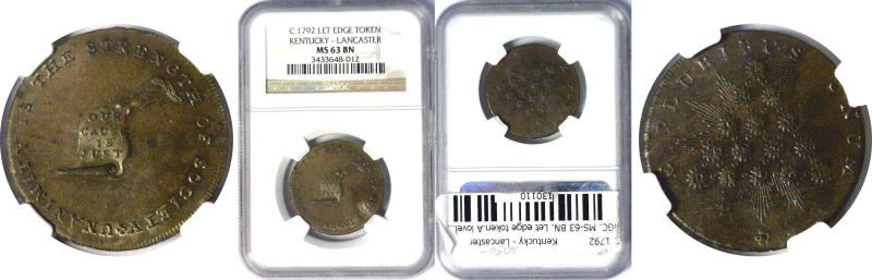 130110- C. 1792. Kentucky - Lancaster. NGC. MS-63. BN.