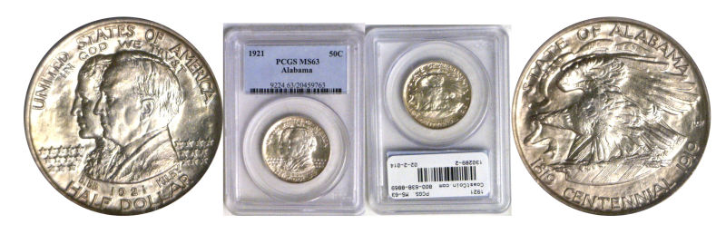 130289- 1921. PCGS. MS-63. Alabama.