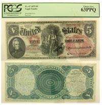 1875. $5. F-67. PCGS. Ch New-63. PPQ. LTN.