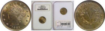 1883-N/C. NGC. MS-65.
