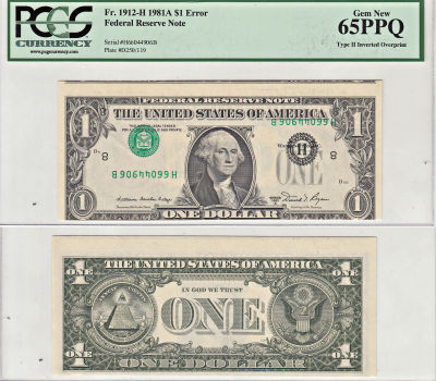 1981-A. $1. PCGS. Gem-65. PPQ. Federal Reserve Not