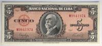 1949. Cuba. 5 Pesos. GCU. P-78a, Gorgeous Gem qual