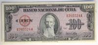 1954. Cuba. 100 Pesos. CAU. P-82b.