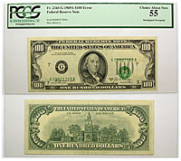 1969-A. $100. PCGS. Ch AU-55. Federal Reserve Note