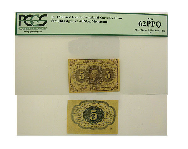 132625- First. Issue. PCGS. New-62. PPQ. F-1230.