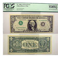 1974. $1. PCGS. Ch AU-55. PPQ. Federal Reserve Not