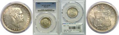 1883. Quarter. PCGS. AU-55.