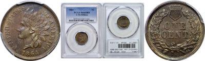 1864-L. PCGS. MS-63. BN.