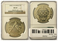 1988-D. NGC. MS-69. Olympic.