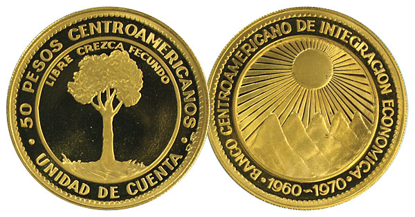 133248- 1970. Central American Republic. .5787 oz.. CPF.