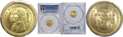 1903. PCGS. MS-65+. La. Purchase - Jefferson $1.
