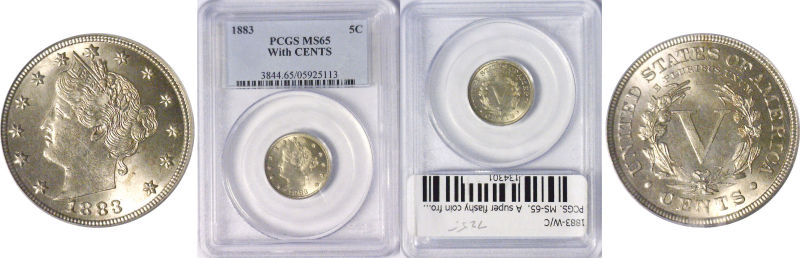 134301- 1883-W/C. PCGS. MS-65.