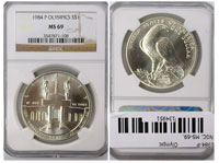 1984-P. NGC. MS-69. Olympic.
