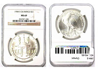 1984-S. NGC. MS-69. Olympic.