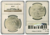 1994-W. NGC. MS-69. Women in Military.