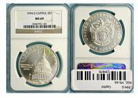 1994-D. NGC. MS-69. Capitol.