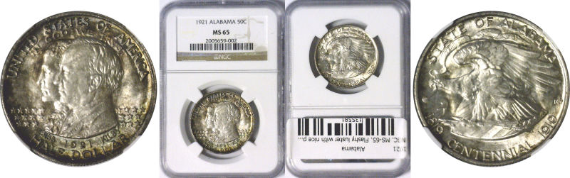 135581- 1921. NGC. MS-65. Alabama.