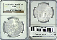 1994-W. NGC. MS-70. Women in Military.