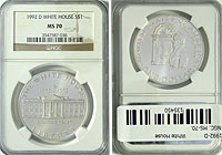 1992-D. NGC. MS-70. White House.